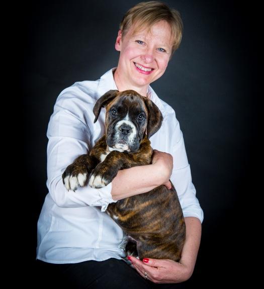 Portrait en studio maitre chien en Berry